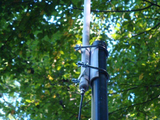 Scrap PVC Vertical Antenna Mount by ke3fl, Phil Karras, Philip